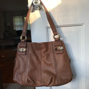 B. Makowsky Leather Shoulder Bag